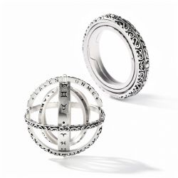Jeulia Astronomical Sphere Sterling Silver Ring (With A Free Chain)