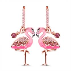 Jeulia Flamingo Sterling Silver Earrings
