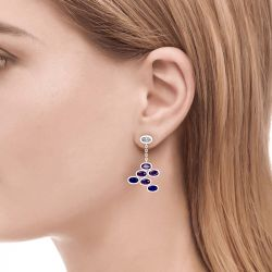 Jeulia Monet's Painting Inspired Sterling Silver Drop Earrings
