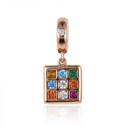 """""""You Are The Best"""" Magic Cube Sterling Silver Pendant"""