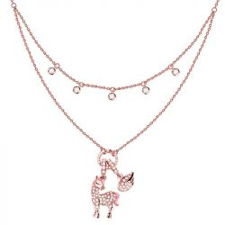 Jeulia Layered Unicorn Sterling Silver Necklace
