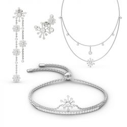 Jeulia Dandelion Sterling Silver Jewelry Set