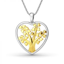 Jeulia Circle Of Life Heart-Shaped Pendant