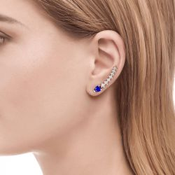 Jeulia Royal Blue Climber Earrings