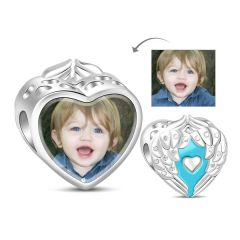 Heart Photo Charm Sterling Silver