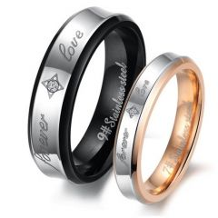 Jeulia Two Tone Stainless Steel Band Set