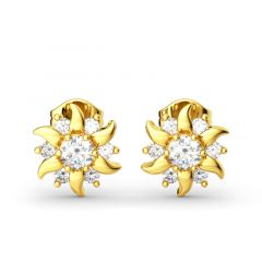 Jeulia Sunflower Sterling Silver Stud Earrings